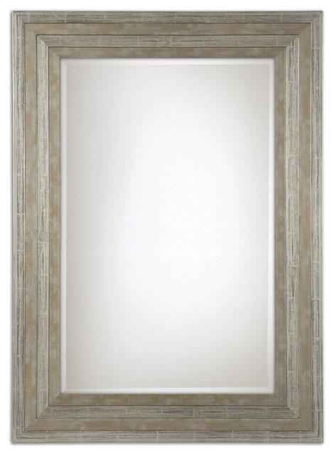 Uttermost Hallmar Wood Mirror.