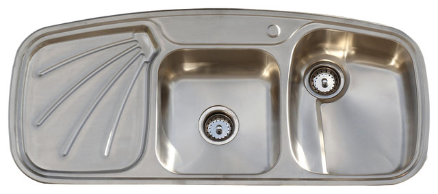 Vintage Style 304 Stainless Steel Farm Sink Drainboard Double