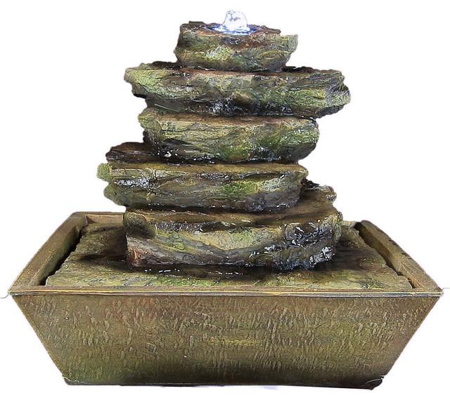 Sunnydaze Decor - Sunnydaze Cascading Rocks Tabletop Fountain With ...
