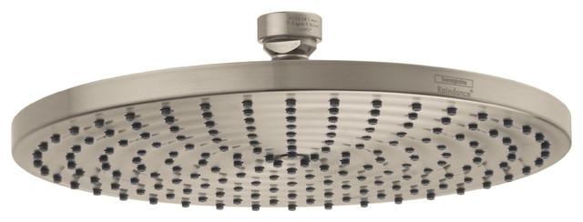 Hansgrohe 27474821 Raindance Downpour Air Showerhead 10 Inch in Brushed Nickel