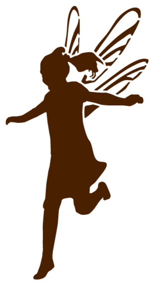 Jumping Fairy Stencil For Painting