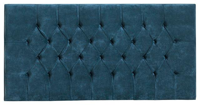 Chesterfield Standard Headboard, Hercules Blue, Single