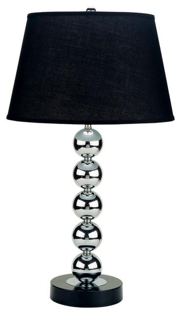 "Black Lamp ore international designer home collection 30"" metal table lamp"