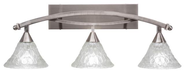 Toltec Lighting Bow 3 Light Bath Bar with 4.5 Bubble Glass
