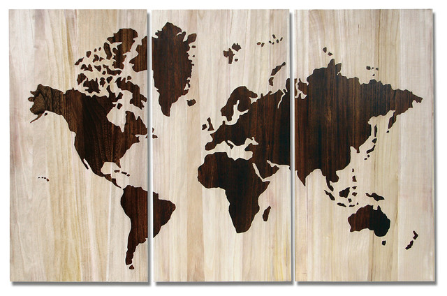 Delicieux Palecek World Map Wall Decor, Set Of 3 Transitional Wall Decor