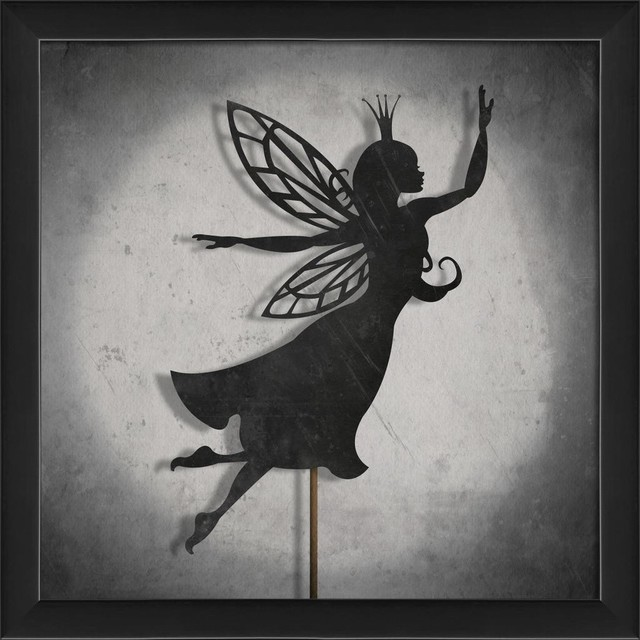 shadow puppet fairy framed artwork contemporary prints and posters