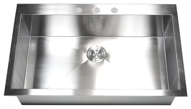 "36"" Top-Mount/Drop-In Stainless Steel Single Bowl Kitchen Sink"