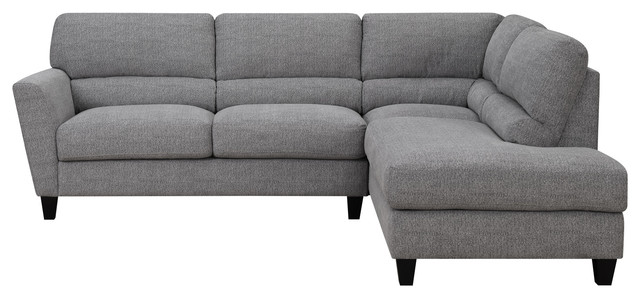 Emerald Home Speakeasy 2-Piece Sectional With 2 Pillows.