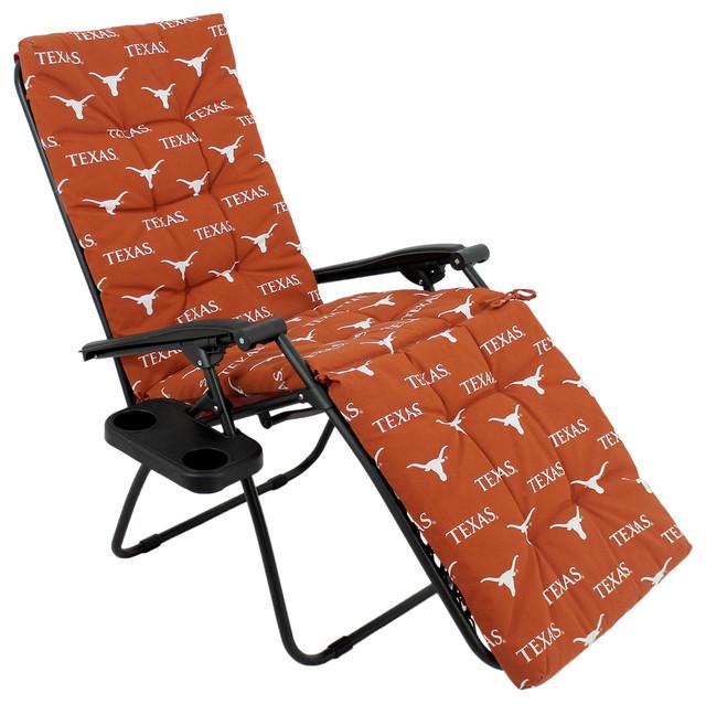 Texas Longhorns Zero Gravity Chair Cushion, 20x72x2