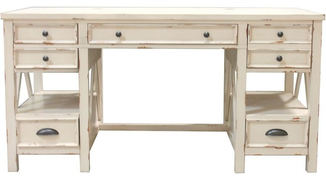 Parker House Nantucket Writing Desk In White.