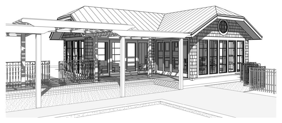 South Haven Backyard Pool House