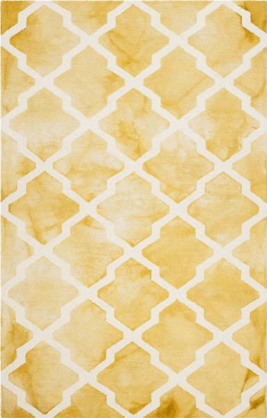 Safavieh, Dip Dye Ddy540h, 5&x27;x8&x27;gold.
