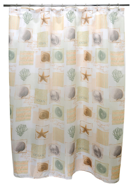 Famous Home Seaside Sage Shower Curtain