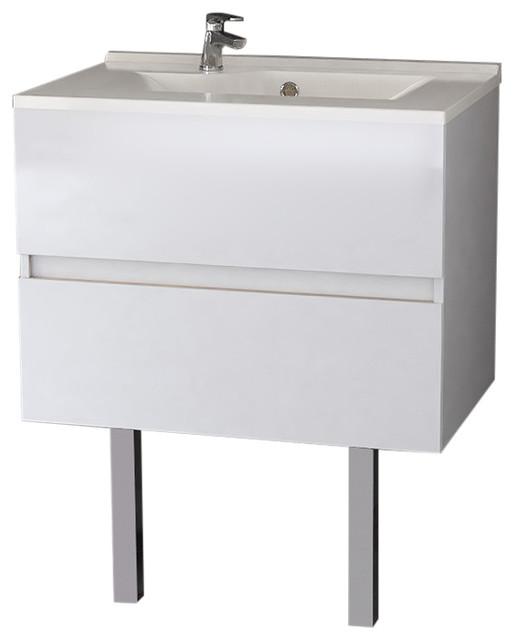 Rosaly Bathroom Vanity Unit, 70 cm, White With Legs