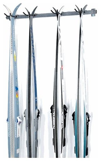 Wall Mount Cross Country 4 Ski Rack Contemporary