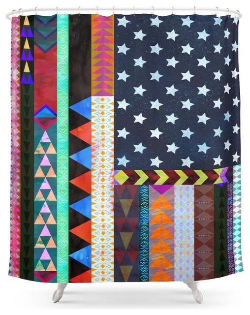 Society6 Boho America Shower Curtain Southwestern Shower Curtains By Society6