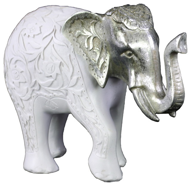Houzz Spring Landscaping Trends Study: Polyresin Standing Elephant Figurine