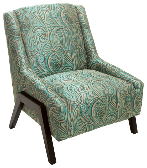 GDFStudio   Denise Austin Home Verona Blue Fabric Occasional Chair    Armchairs And Accent Chairs
