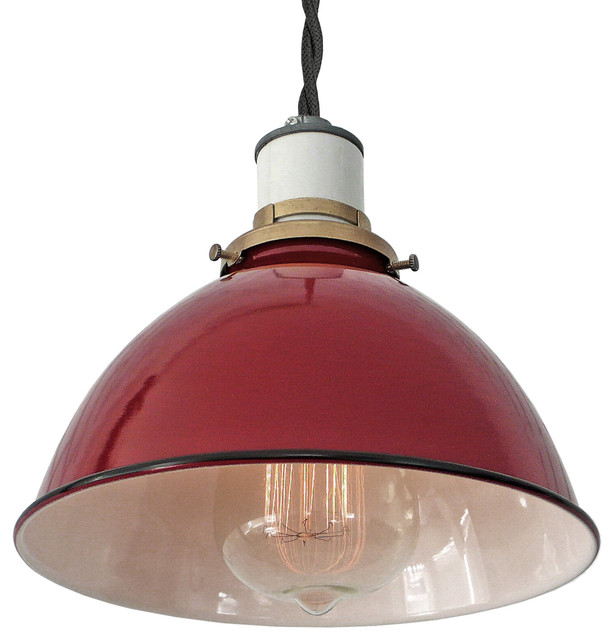 The Sullivan Industrial Lamp, Black Twisted Cord, Hardwire Farmhouse Pendant  Lighting