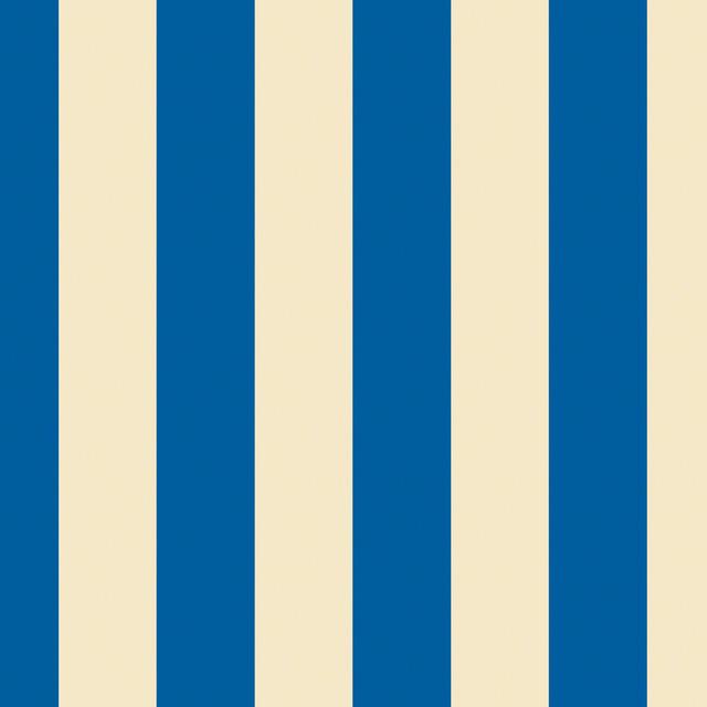 Stripe Blue Cream Removable Wallpaper Half Kit