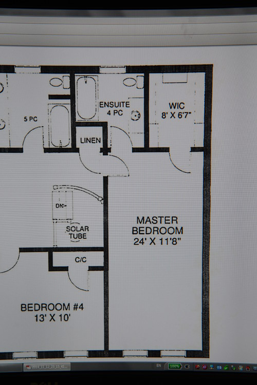 Need a bigger master ensuite and walk in closet for Master bedroom with ensuite and walk in wardrobe