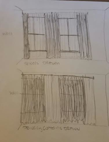 Curtains Ideas curtain rod close to wall : Curtain for a window next to a wall