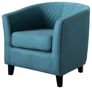 Kasey Harlequin Pattern Fabric Club Chair, Dark Teal