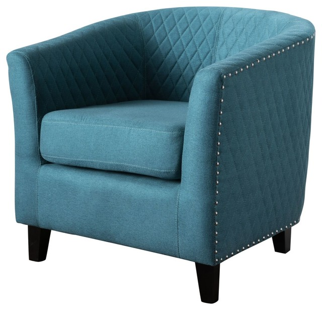 Delicieux Kasey Harlequin Pattern Fabric Club Chair, Dark Teal