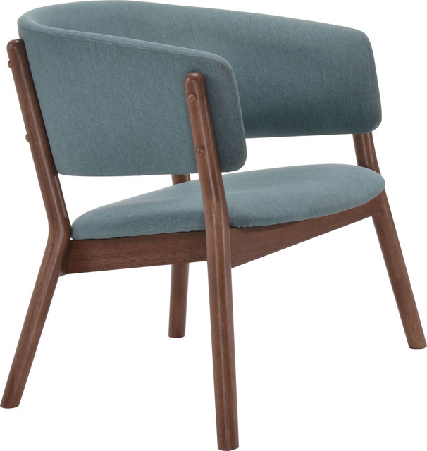 Zuo Modern Chapel 100155 Lounge Chairs, Blue, Set Of 2.