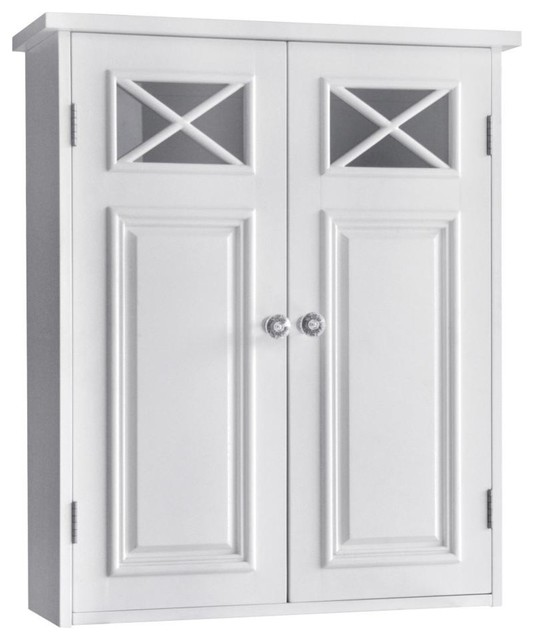 Dawson 2-Doors Wall Cabinet - Farmhouse - Bathroom Cabinets And ...