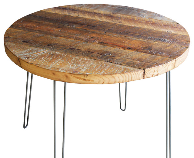 Antique Barnwood Coffee Table With Hairpin Legs