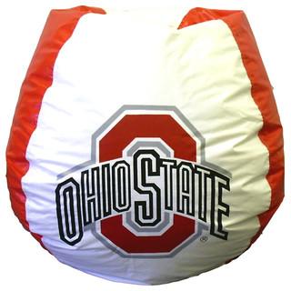 Shop Houzz Ohio State Buckeyes Logo Bean Bag Bean Bag