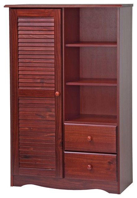 100% Solid Wood Door Chest, Mahogany.