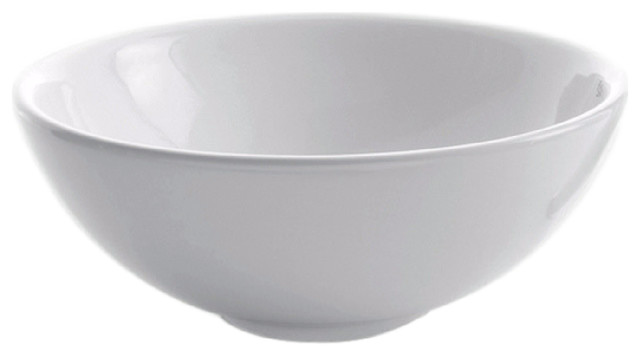 Kraus White Round Ceramic Sink - Contemporary - Bathroom Sinks - by ...