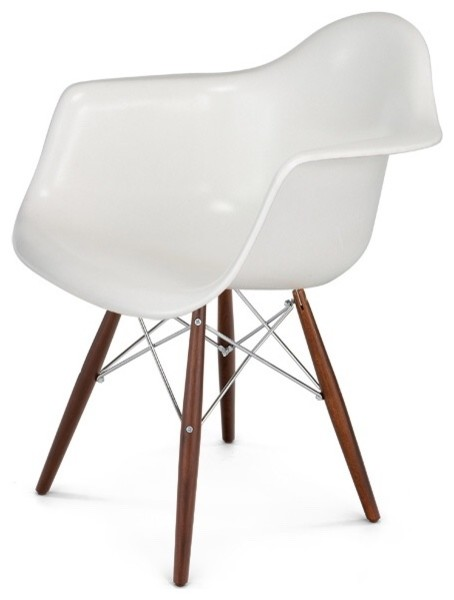 Eames Style Arm Chairs All White Or Add Some Color