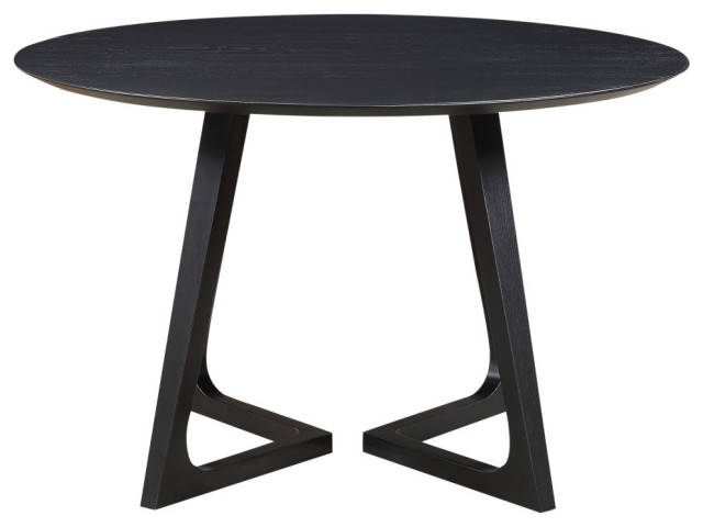 Godenza Dining Table Round Black Ash