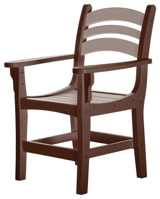 Excellent Pawleys Island Durawood Casual Dining Chair With Arms Chocolate Weatherwood Caraccident5 Cool Chair Designs And Ideas Caraccident5Info