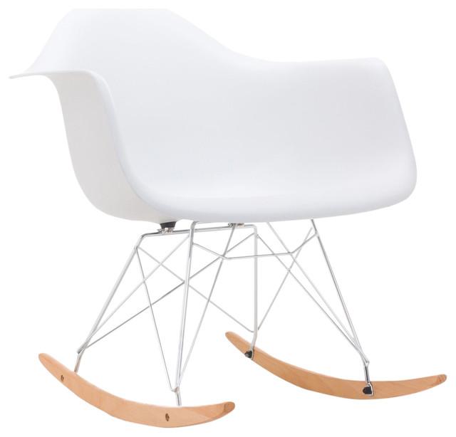 Cecil Eiffel-Style Rocking Chair, White