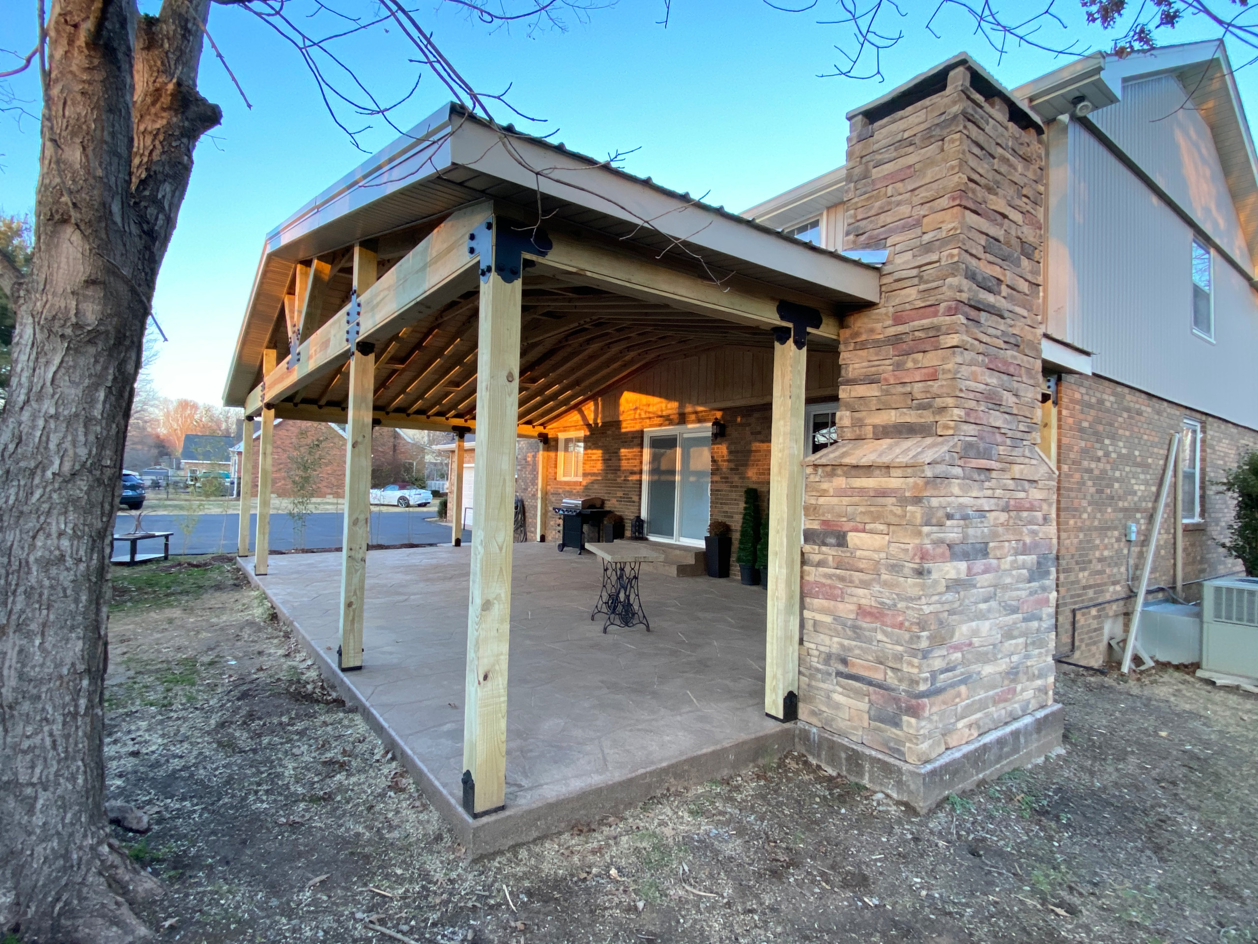 Gable Covered Patio