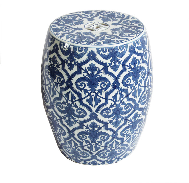 Astonishing Blue And White Ceramic Garden Stool Caraccident5 Cool Chair Designs And Ideas Caraccident5Info