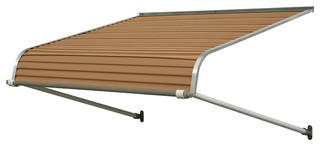 """1100 Series Aluminum Door Canopy 84""""x48"""" Projection, Mocha Tan"""