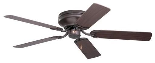42 Contemporary Snugger Ceiling Fan, Oil Rubbed Bronze.
