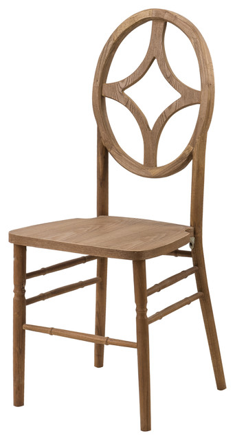 Veronique Series Stackable Dining Chair - Tinted Raw