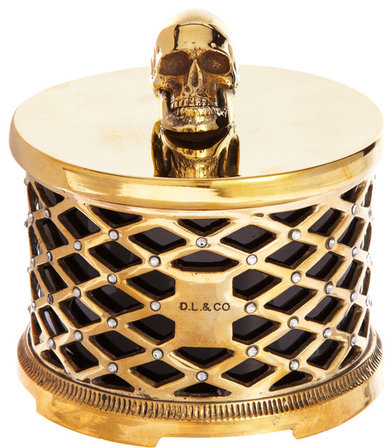 D.L. & Co. Skull Cased Candle
