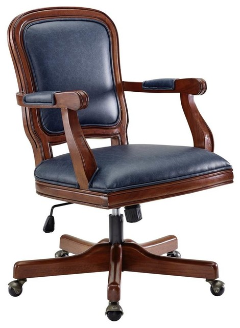 Peachy Maybell Office Chair Antique Brown And Blue Interior Design Ideas Inesswwsoteloinfo