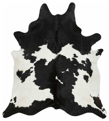 Black And White Special Natural Cowhide, X-Large.