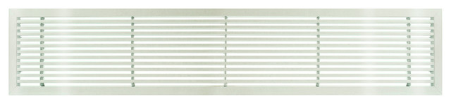 "Ag20 6""x36"" Aluminum Fixed Bar Air Vent Grille, White Gloss."