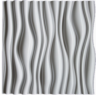 "... Panel Dunes, Decorative Thermoplastic Tiles, Matte White, 2""x2"" - Tile"