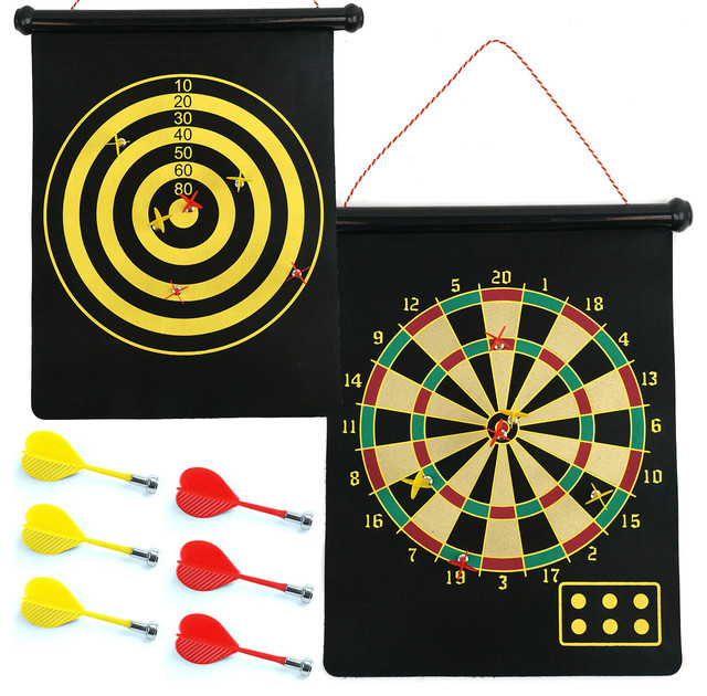 Trademark Games - Magnetic Roll-Up Dart Board and Bullseye Game with Darts by Trademark Games ...