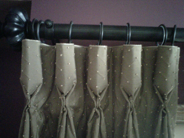 Goblet Pleat Silk Drapery traditional-curtains